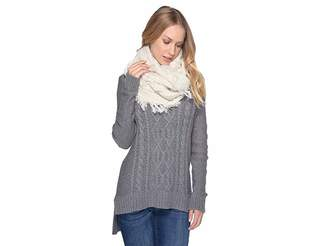 UGG Cable Knit Scarf with Fringe