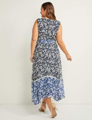 371e1d640d Lane Bryant Floral Faux-Wrap Fit & Flare Maxi Dress