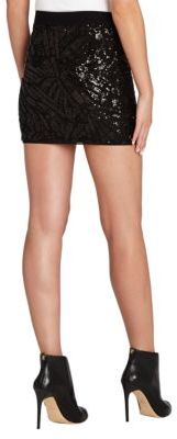 BCBGMAXAZRIA Paxton Deco Sequin Appliqued Mini Skirt
