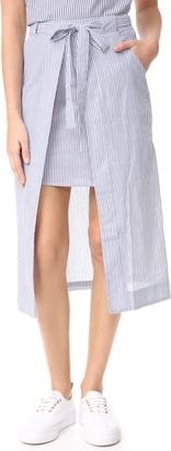 J.O.A. Stripe Midi Skirt $80 thestylecure.com