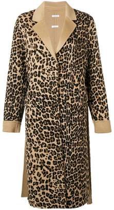 P.A.R.O.S.H. leopard single breasted coat