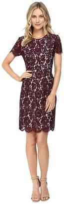 Vince Camuto Short Sleeve Scallop Lace Dress Women's Dress