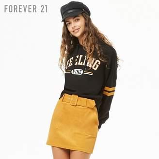 Forever 21 (フォーエバー 21) - Forever 21 ベルトコーデュロイミニスカート