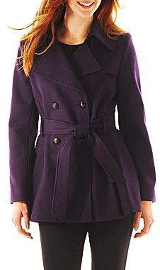Collezione Short Belted Wool-Blend Coat - Talls