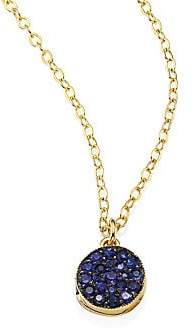Ila Zerrah Blue Sapphire & 14K Yellow Gold Locket Necklace