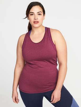 Old Navy Fitted Plus-Size Mesh-Trim Racerback Tank