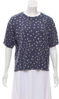 Etoile Isabel Marant Printed Short Sleeve Crop Top