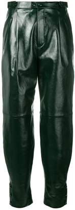 Givenchy high-waisted leather trousers