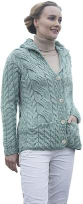 Carraigdonn Carraig Donn Ladies Buttoned Cabled Cardigan
