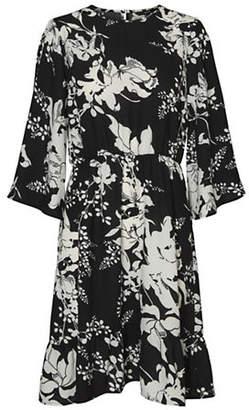 Vero Moda Kana Two-Toned Floral Bell Sleeve Dress