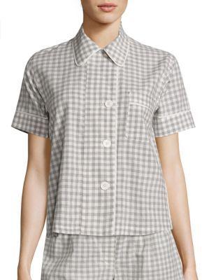 AraksAraks Shelby Organic Cotton Gingham Pajama Top