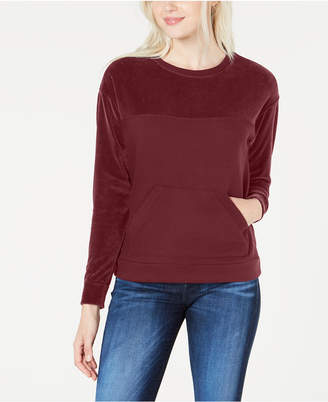 Lacoste Women's Long-Sleeve Velvet Mix Sweatshirt
