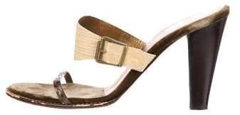 Vera Wang Lizard Slide Sandals