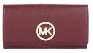 MICHAEL Michael Kors Michael Kors Leather Flap Wallet