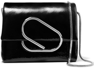 3.1 Phillip Lim - Alix Micro Patent-leather Shoulder Bag - Black $650 thestylecure.com