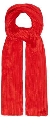 Pleats Please Issey Miyake Madame T Scarf - Womens - Red