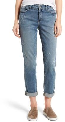 Women's Nydj Jessica Splatter Print Stretch Relaxed Boyfriend Jeans $144 thestylecure.com