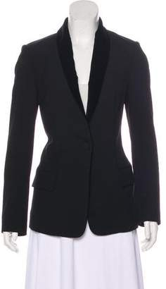 A.L.C. Velvet-Accented Single-Breasted Blazer