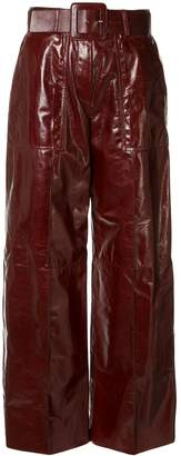Drome patent leather trousers