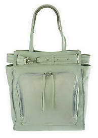 As Is Kelsi Dagger Draco Leather North/ South Tote with Buckle Detail $90 thestylecure.com