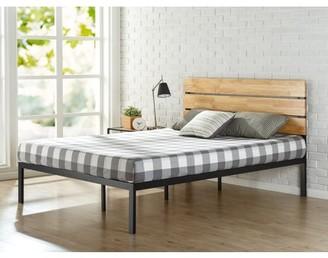 Zinus Paul Metal & Wood Platform Bed with Wood Slats, Full