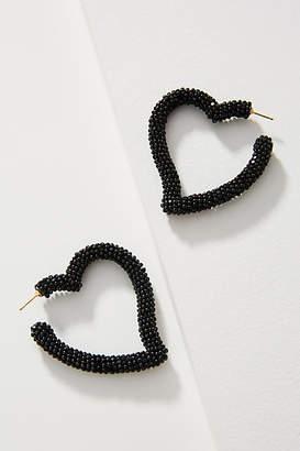 Sachin + Babi Beaded Heart Hoop Earrings