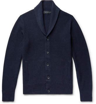 Rag & Bone Cardiff Shawl-Collar Merino Wool and Cotton-Blend Cardigan - Men - Navy