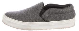 Celine Felt Slip-On Sneakers