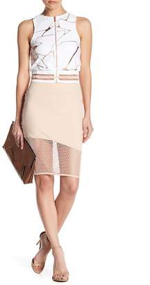 Lime & Vine Beau Mesh Pencil Skirt