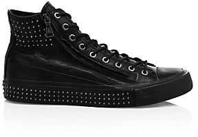 John Varvatos Men's Studded Double-Zip Vulcanized Mid-Top Sneakers