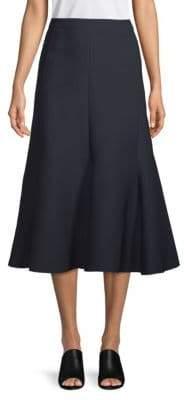 Valentino Silk Midi Skirt