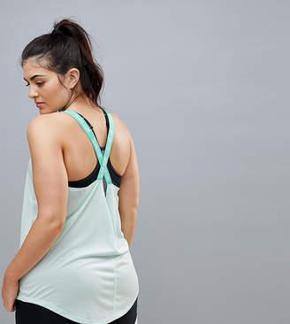 Nike Training Plus Training Elastika Tank In Mint