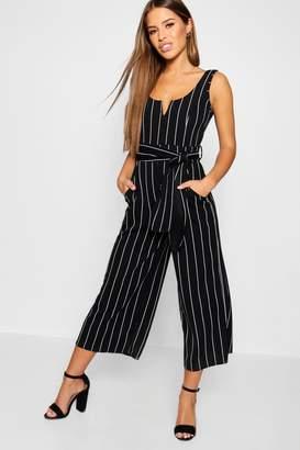 62ea76259c8 at boohoo · boohoo Petite Striped Culotte Jumpsuit