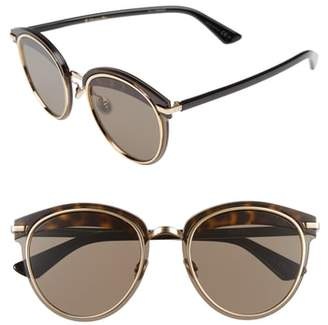 Christian Dior Offset 62mm Round Sunglasses