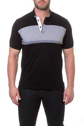 Maceoo Wide Stripe Polo