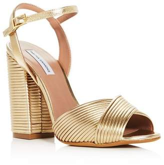 c6129a7ac9df Tabitha Simmons Gold Heeled Women s Sandals - ShopStyle