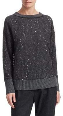 Fabiana Filippi Tulle Overlay Sequin Sweater