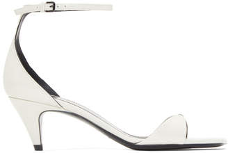Saint Laurent White Patent Charlotte Sandals