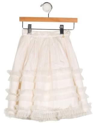 Christian Dior Girls' Tulle A-Line Skirt