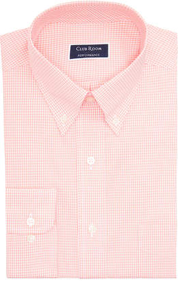 Club Room Men Classic/Regular Fit Performance Mini Gingham Dress Shirt