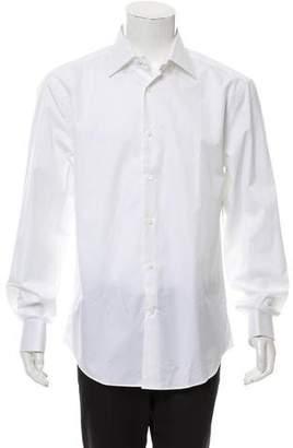 Brunello Cucinelli French-Cuff Spread Collar Woven Shirt w/ Tags