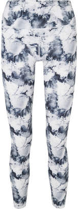 Varley Biona Printed Stretch Leggings - White