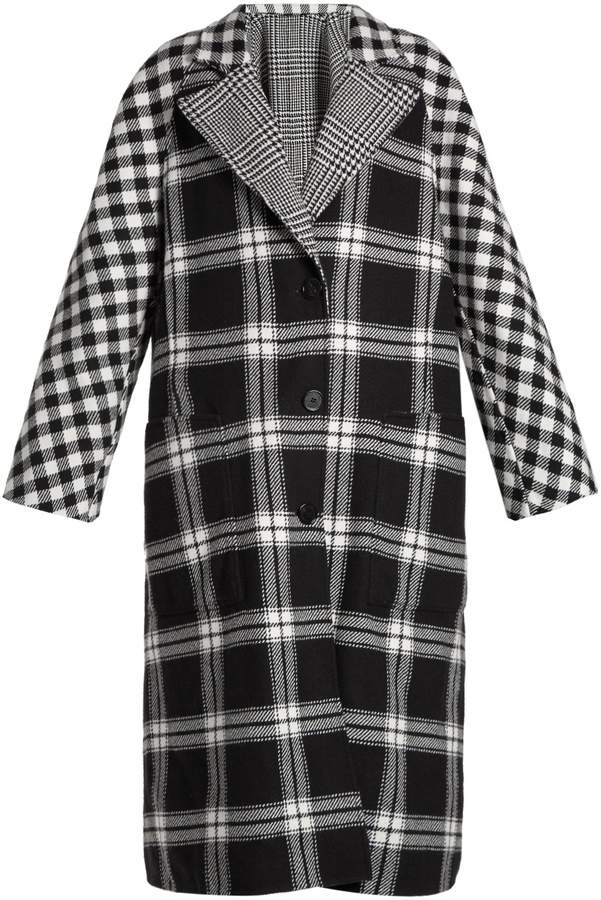 Burberry Checked reversible wool and cashmere-blend coat