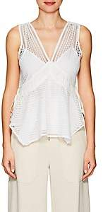 Derek Lam 10 Crosby Women's Crochet Sleeveless Top-White