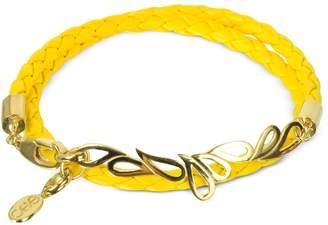 Sho London Mari Fiendship Silver Vermail & Leather Double Bracelet