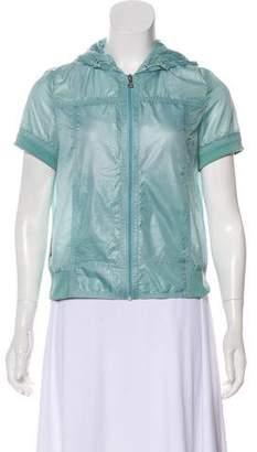 Prada Short Sleeve Zip-Up Top