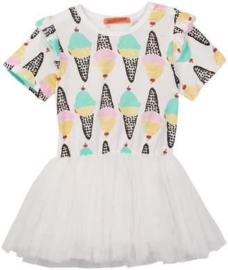 Funkyberry Ice Cream Tulle Dress (Toddler & Little Girls)