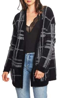 1 STATE 1.STATE Plaid Long Cardigan