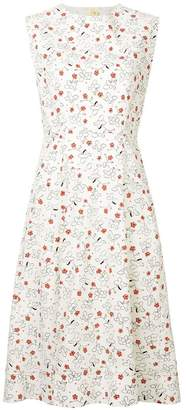 Marni printed fit and flare dress