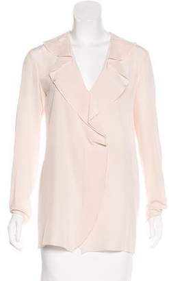 Lanvin Long Sleeve Silk Top